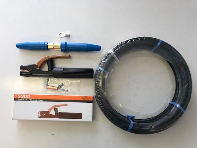 ☆新品☆溶接用キャブタイヤWCT22SQ 25m 付属品付(ホルダー+端子+ジョイント)