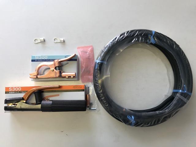 ☆新品☆溶接用キャブタイヤケーブル WCT38SQ 50m 付属品付(ホルダー+アースクリップ+端子2個)
