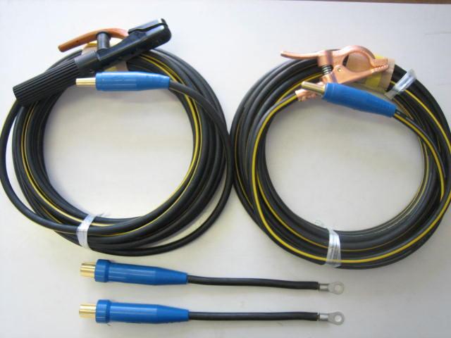 ☆新品☆溶接用キャブタイヤケーブル イエローライン(黄/黒) WCT22SQ 50m(ホルダー線+アース線)付属完成品 ジョイント2本付