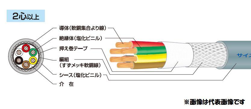 ☆新品☆ 富士電線 マイクロホン用ビニルコード MVVS 0.75SQx4C 100m巻 ☆領収書可能☆