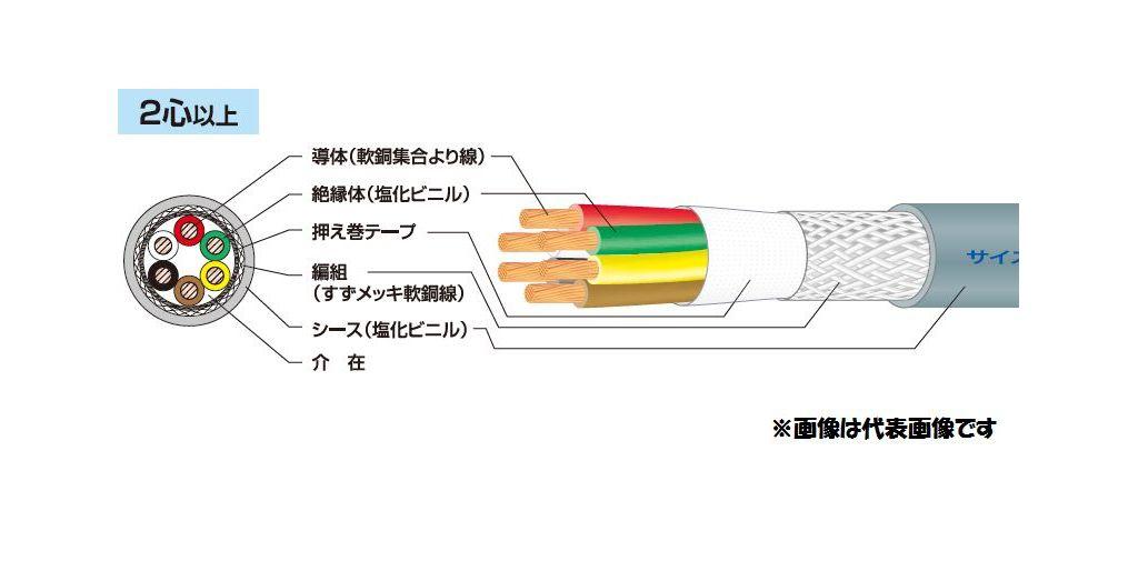☆新品☆ 富士電線 マイクロホン用ビニルコード MVVS 1.25SQx7C 100m巻 ☆領収書可能☆