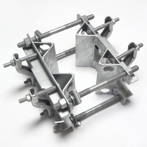 イワブチ アームタイレス金物 L75×75アーム用 (適用径φ330-φ400) SAS-33-LW 【代引不可】