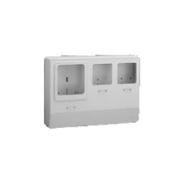 伊藤電気製作所 電力量計取付ボックス 自己消化性ACS樹脂 縦420mm 横580mm 深さ130mm アイボリー PMB-333