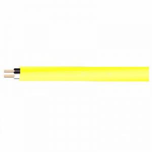 菅波電線 600Vビニル絶縁ビニルシースケーブル平形 2.0mm 2心 100m巻 黄色 VVF2.0×2Cキイロ×100m