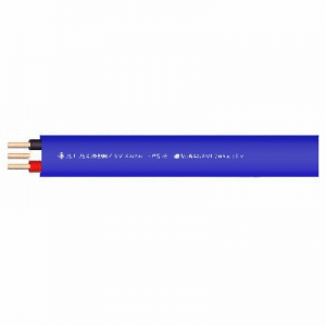 菅波電線 600Vビニル絶縁ビニルシースケーブル平形 2.0mm 3心 100m巻 青 VVF2.0×3Cアオ×100m