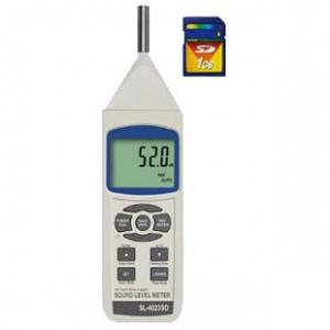 マザーツール SDカードデータロガデジタル騒音計 周波数範囲31.5Hz~8KHz MAX/MIN表示・データホールド機能付 SL-4023SD