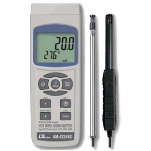 マザーツール SDカードデータロガ式デジタル熱線式風速・風量計 風速・風量・温度・湿度・露点測定 MAX/MIN値表示・データホールド機能付 AM-4224SD