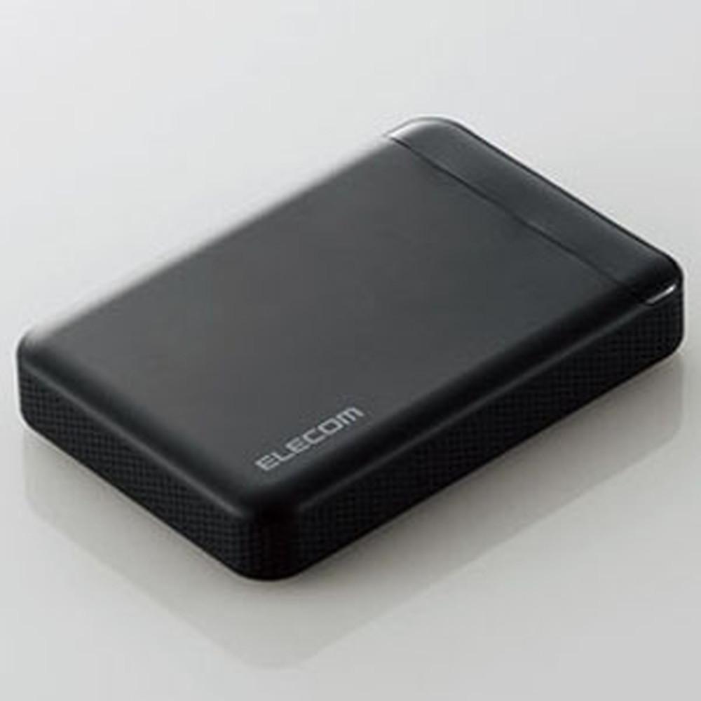 ELECOM ポータブルハードディスク USB3.1Gen1対応 ビデオカメラ用 2TB ELP-EDV020UBK