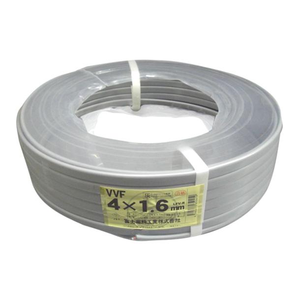 富士電線 VVFケーブル VVF1.6×4C×100M