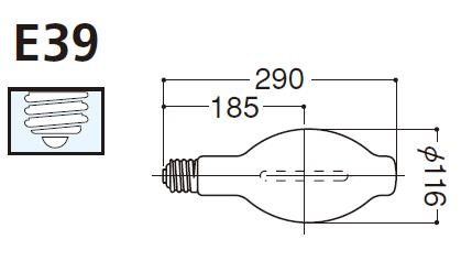 岩崎電気 FECサンルクスエース 拡散形 360W NH360FLS