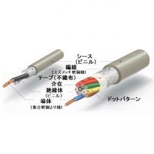 伸興電線 マイクロホン用ビニルコード 1.25㎟ 3心 100m巻 灰色 MVVS1.25SQ×3C×100m