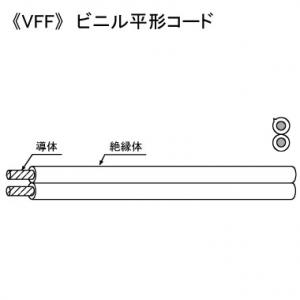 <title>毎日続々入荷 KHD ビニル平形コード 300V 2.0㎟ 100m巻 灰 VFF2.0SQ×100mハイ</title>