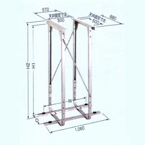 日晴金属 PCキャッチャー 天井吊用 溶接亜鉛メッキ仕上 PC-DG60