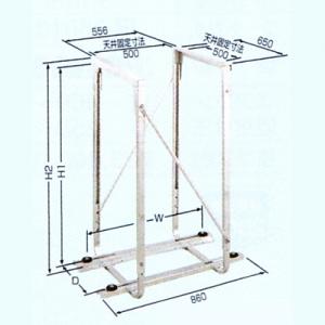 日晴金属 PCキャッチャー 天井吊用 溶接亜鉛メッキ仕上 PC-DG50