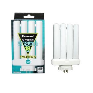 パナソニック コンパクト形蛍光灯 18W ナチュラル色(3波長形昼白色) ツイン蛍光灯 ツイン2パラレル(4本平面ブリッジ) FML18EX-N