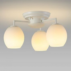 NEC LEDシャンデリア 電球色 小形電球40形×3灯相当 天井直付タイプ SXZ-LE173701L