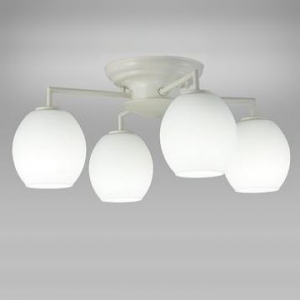 NEC LEDシャンデリア 昼白色 小形電球50形×4灯相当 天井直付タイプ SXZ-LE174701N