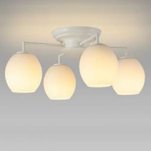 NEC LEDシャンデリア 電球色 小形電球40形×4灯相当 天井直付タイプ SXZ-LE174701L