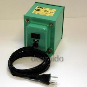 日章工業 変圧トランス 入出力電圧AC120⇔AC100V 定格容量:1000W 《MF-Uシリーズ》 MF1000U