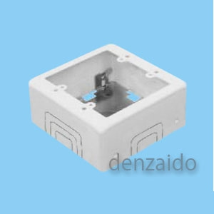 外山電気 【ケース販売特価 15個セット】 2個用スイッチボックス ワンタッチ C型 深型 ホワイト 《メタルモール付属品》 M372_set