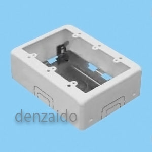 外山電気 【ケース販売特価 10個セット】 3個用スイッチボックス ワンタッチ B型 深型 ホワイト 《メタルモール付属品》 M273_set