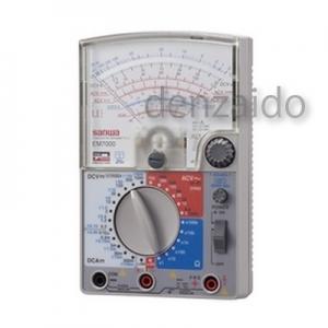 三和電気計器 アナログマルチテスタ FET電子テスタ 高感度 多機能9ファンクション ±直流電圧/電流 交流電圧/電流 他 EM7000