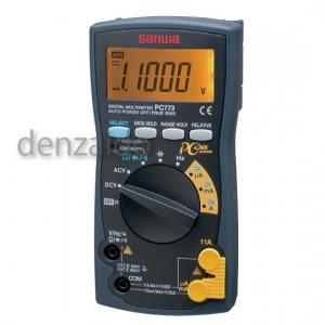 三和電気計器 デジタルマルチメータ 真の実効値測定 9ファンクション 直流電圧/電流 交流電圧/電流 抵抗 コンデンサ容量 周波数 導通 ダイオードテスト PC773