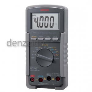 三和電気計器 デジタルマルチメータ 高入力インピーダンス1000MΩ 10ファンクション 直流電圧/電流 交流電圧/電流 抵抗 コンデンサ容量 温度 周波数 導通 ダイオードテスト RD700