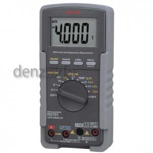 三和電気計器 デジタルマルチメータ 高入力インピーダンス1000MΩ 真の実効値測定 10ファンクション 直流電圧/電流 交流電圧/電流 抵抗 コンデンサ容量 温度 周波数 導通 ダイオードテスト RD701