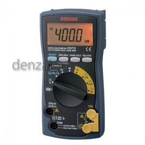 三和電気計器 デジタルマルチメータ 10ファンクション 直流電圧/電流 交流電圧/電流 抵抗 コンデンサ容量 温度 周波数 導通 ダイオードテスト CD772