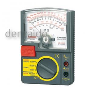 三和電気計器 絶縁抵抗計 アナログ 自動放電機能 3レンジ式 定格電圧:250/500/1000V 抵抗測定:2000MΩ PDM1529S