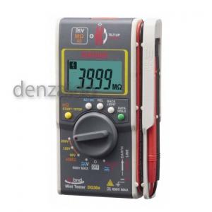 三和電気計器 絶縁抵抗計 ハイブリッドミニテスタ 3レンジ式 定格電圧:50/125/250V 抵抗測定:40MΩ DG36a