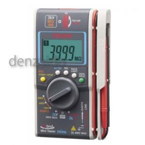 三和電気計器 絶縁抵抗計 ハイブリッドミニテスタ 3レンジ式 定格電圧:125/250/500V 抵抗測定:400MΩ DG34a
