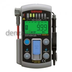 三和電気計器 絶縁抵抗計 デジタル 自動放電機能 7レンジ式 定格電圧:15/25/50/100/125/250/500V 抵抗測定:110MΩ HG561H