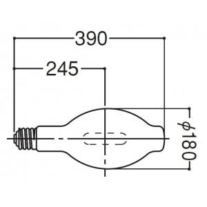 岩崎電気 HIDカラ-ランプ ブルー M1000BV