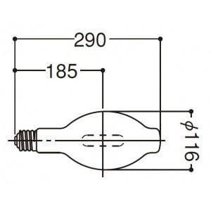 岩崎電気 5波長域 メタルハライドランプ UVカット 400W MF400LSHUUVC