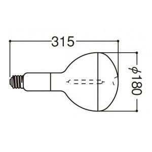 岩崎電気 FECサンルクスエース 反射形 360W NHR360LS