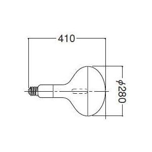 岩崎電気 アイ水銀ランプ 透明反射形 700W HR700N