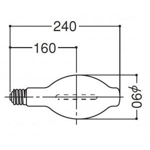 岩崎電気 高圧ナトリウムランプ NH250FDX