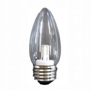 【在庫限り】 ヤザワ 【ケース販売特価 25個セット】 シャンデリア形 LEDランプ クリア 全光束:50lm 10~15W相当 2700K E26口金 LDC1LG372_set