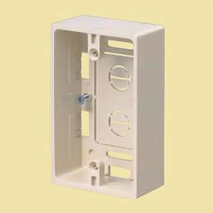 並行輸入品 未来工業 プラモール用 モール用スイッチボックス 豊富な品 ケーブル配線用露出スイッチボックス 1ケ用 MSB-1W カベ白