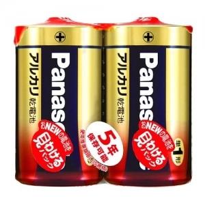 パナソニック アルカリ乾電池 単1形 2個シュリンク×50パックケース販売 LR20XJ2SE*50P