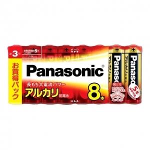パナソニック アルカリ乾電池 単3形 8個シュリンク×30パックケース販売 LR6XJ8SW*30P