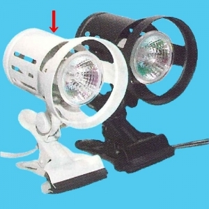 アサヒ 【ケース販売特価 10個セット】 ハロゲンクリップライト スタンダード ホワイト 昼白色ハロゲン電球付 使用電球:ダイクロハロゲン 60W 高色温度タイプ KHD65MWH_set