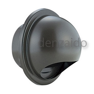 バクマ工業 丸型フード付換気口 開口部:小 防火ダンパー付 ステンレス製 ブラウン 200φ用 BD-200MVS-BR