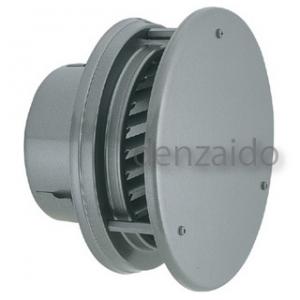 バクマ工業 丸型防風板付換気口 ルーバー脱着式 低圧損 アミ付 取付穴付 ステンレス製 シルバーメタリック 200φ用 W-200G-A5