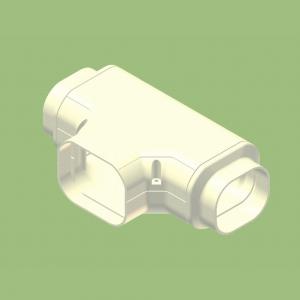 関東器材 【ケース販売特価 10個セット】 配管化粧カバー T型継手(チーズ) 異径アダプタ付 グレー KT-90-G_set
