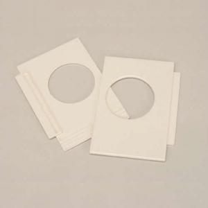 フソー化成 【ケース販売特価 100枚セット】 小窓パネル アイボリー KP-65_set