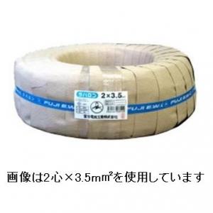 富士電線 ラバロンVCT 600V ソフトビニルキャブタイヤ丸形ケーブル 2心 3.5㎟ 100m巻 ラバロンVCT3.5×2C×100m