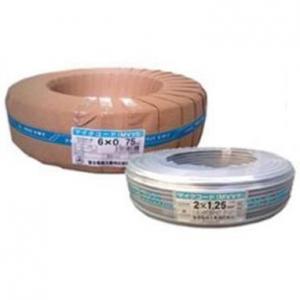 富士電線 マイクロホン用ビニルコード 4心 1.25㎟ 100m巻 灰色 MVVS1.25SQ×4C×100mハイ